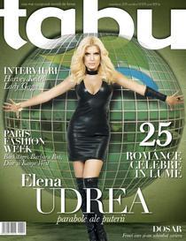 Elena Udrea pe coperta TABU