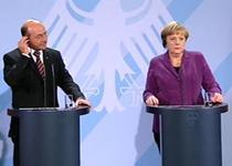 Traian Basescu si Angela Merkel