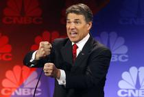 Rick Perry, in timpul dezbaterii din Michigan