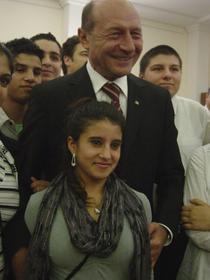 Presedintele Basescu si romi de la Berlin