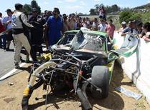 Masina lui Guido Falaschi dupa accident