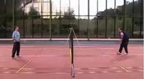 Meciul de badminton Medvedev vs. Putin