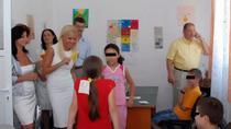 Udrea, printre copii in Iasi