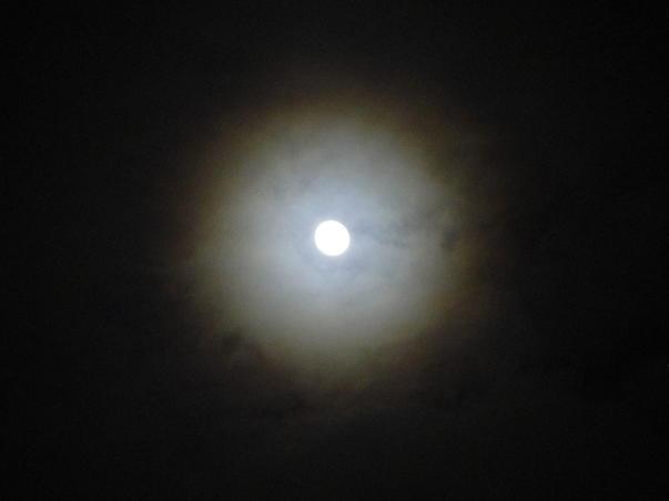 Luna cu aureola de toamna