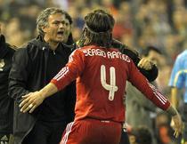 Mourinho si Sergio Ramos, dupa golul de 2-0 cu Valencia