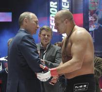 Putin, fluierat in public