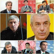 Nicolaescu, Chelaru, Grebla, Diaconu, Tariceanu, Iordache, Sova, Dobre (de la stanga sus)