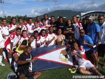 Echipa de fotbal din Samoa Americana, dupa prima victorie din istorie