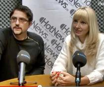 Victoria Stoiciu si Costi Rogozanu in studioul HotNews.ro