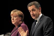 Sarkozy si Merkel, la finalul intalnirii