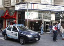 Masina de Politie pe strazile din Buenos Aires