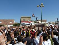 Sirienii protesteaza impotriva regimului lui Bashar al-Assad