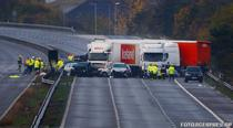 Accident cu 27 masini in Somerset, Marea Britanie