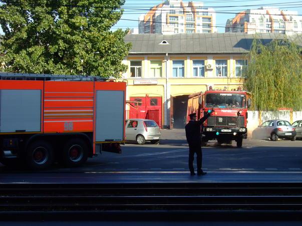 Pompierii ies la interventie