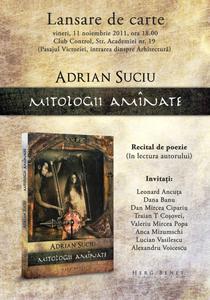 "Lansare de carte - ""Mitologii aminate"""