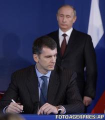 Mihail Prohorov si Vladimir Putin, in 2009