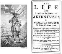 Robinson Crusoe, prima editie (1719)