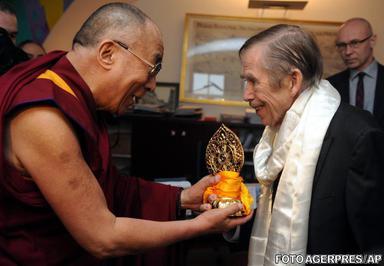 Vaclav Havel si Dalai Lama s-au intalnit in Praga pe 12 decembrie