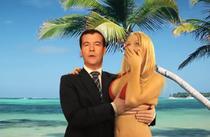 Dmitri Medvedev si blonda