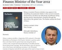Gheorghe Ialomitianu, desemnat cel mai bun ministru de finante de The Banker
