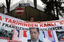 Protest in fata ambasadei Frantei de la Ankara