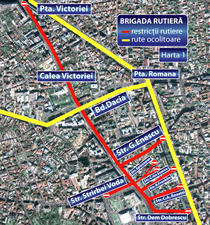 restrictii rutiere Piata George Enescu