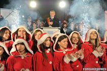 Sorin Oprescu a aprins luminile de sarbatori din Capitala