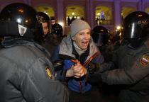 FOTOGALERIE A treia zi de proteste in Rusia