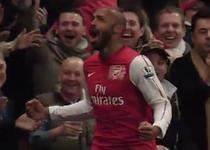 Thierry Henry, gol decisiv pentru Arsenal