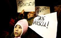 Fotogalerie: Protest la Palatul Cotroceni