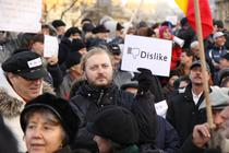 Protestari in Piata Universitatii, 15 ianuarie 2012