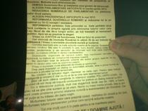 Manifest impartit in Piata Universitatii