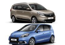 Colaj Dacia Lodgy si Renault Scenic