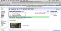 Captura e-mail - anunt romanialiberala.ro