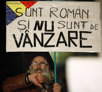 Fotogalerie: A 10-a zi de proteste in Bucuresti