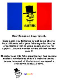 Mesajul postat de #antisecRO