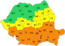 Harta judetelor afectate