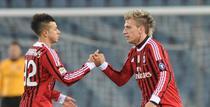 El Shaarawi (stanga) si Maxi Lopez, salvatorii Milanului