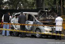 Masina atacata in New Delhi