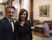 Sean Penn si Cristina Kirchner