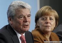 Joachim Gauck si Angela Merkel
