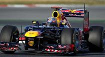 Sebastian Vettel, pe circuitul din Barcelona