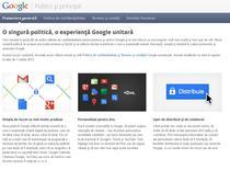 O noua politica de confidentialitate Google
