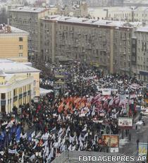 Protest anti-Putin in Moscova