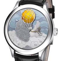 Cinq seimaines en Ballon, un ceas ce afiseaza ora in mod retrograd