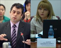 Horatius Dumbrava (fost presedinte CSM) si Alina Ghica (actual presedinte)