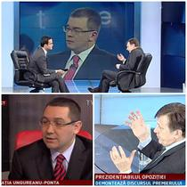 Ponta si Antonescu la tv
