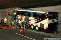 Autocarul implicat in accidentul din Elvetia