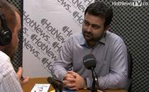 Radu Magdin in studioul HotNews.ro