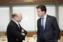 Traian Basescu si Mark Rutte